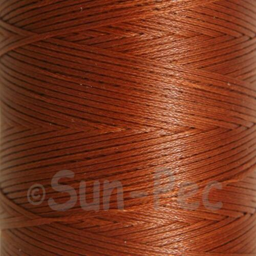 150D Wax Linen 1mm cord thread for leather repair hand stitching craft 10-50yd
