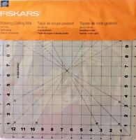 Fiskars 14x14 Inch Self Healing Rotating Cutting Mat - Great For Quilting