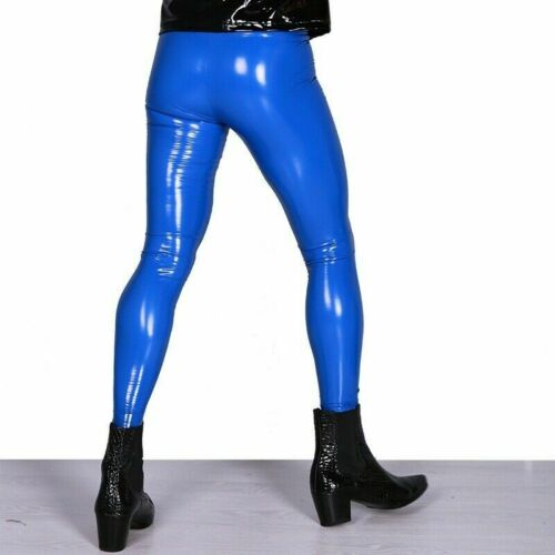 LATTICE di gomma uomo Legging Stretch bagnato Skinny Pants Pantaloni PALCO Club Wear