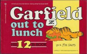Consciencieux Garfield 12th Book: Garfield Out To Lunch (anglais, 1. édition 1986) Z 1-afficher Le Titre D'origine