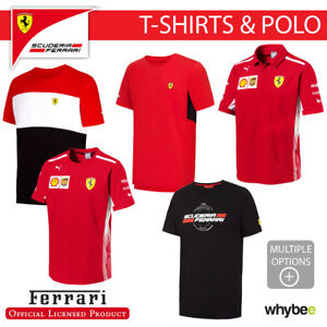 0ffb3be9ac2e28 Ferrari F1 Formula One Team Mens T-Shirt & Polo Shirt Official Full ...
