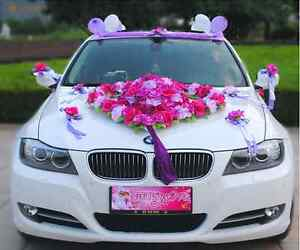Flower Festooned vehicle wedding car decoration kit Korean car ...