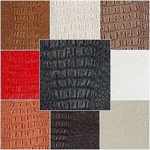 Alligator Prints Fabric Vinyl Faux Leather Animal Skin