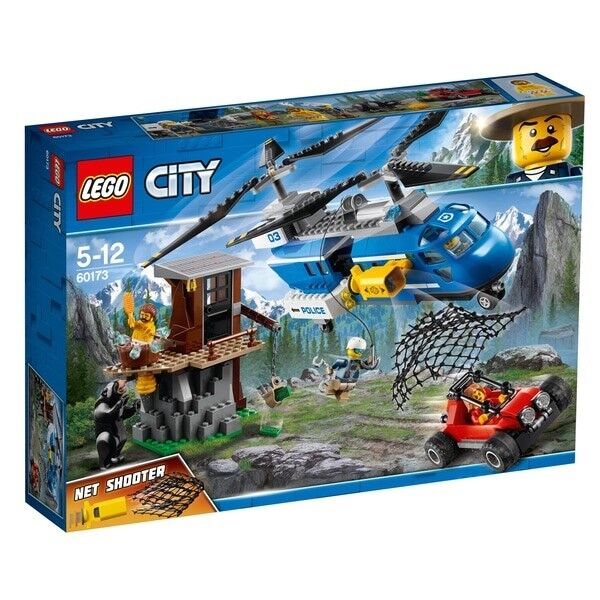LEGO City Police Mountain Arrest 60173 Mountain Bear helicopter