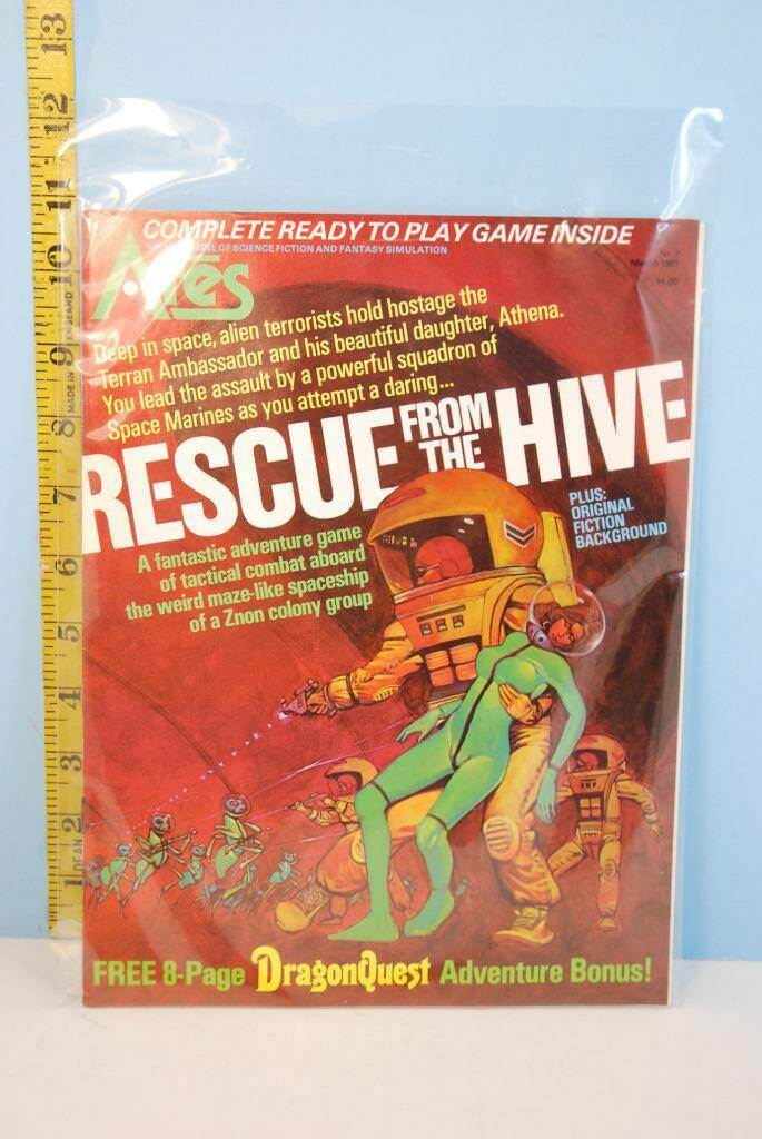 ARES Magazine Rescue From The Hive SPI UNPUNCHED 1981
