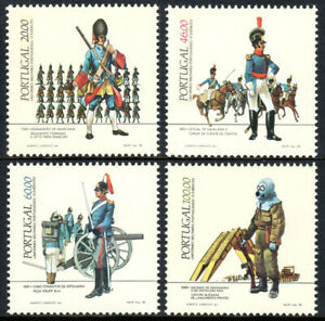 Portugal 1613-1616, MNH. Uniforms. Infantry Grenadier, Artillery Corporal, 1985