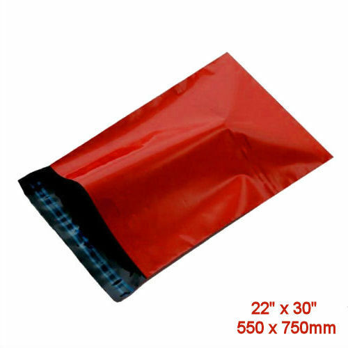5 Bright RED Mailing Postage Parcel Bags X-Large 550x570mm Self Seal Envelopes
