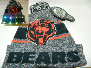 Chicago Bears Winter Cap Winter Hat Cuffed Knit Nfl Led