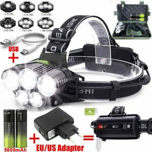 160000LM-T6-LED-Headlamp-Rechargeable-Headlight-18650-Flashlight-Head-Torch-Camp