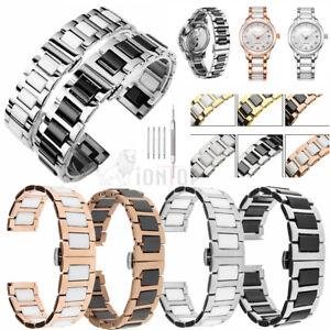 Image Is Loading 20mm 22mm Elegant Ceramic Bracelets Watch Band Strap