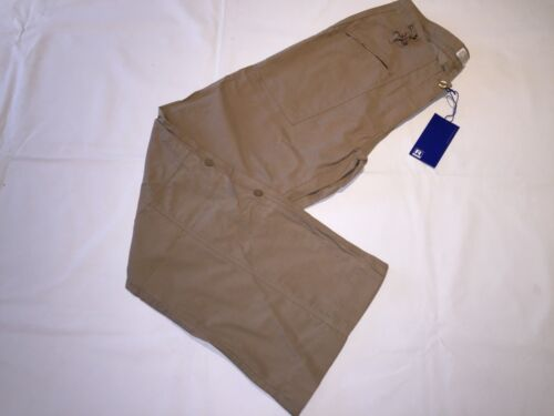 ladies walking hiking camping utility roll leg holiday trousers sand beige NEW