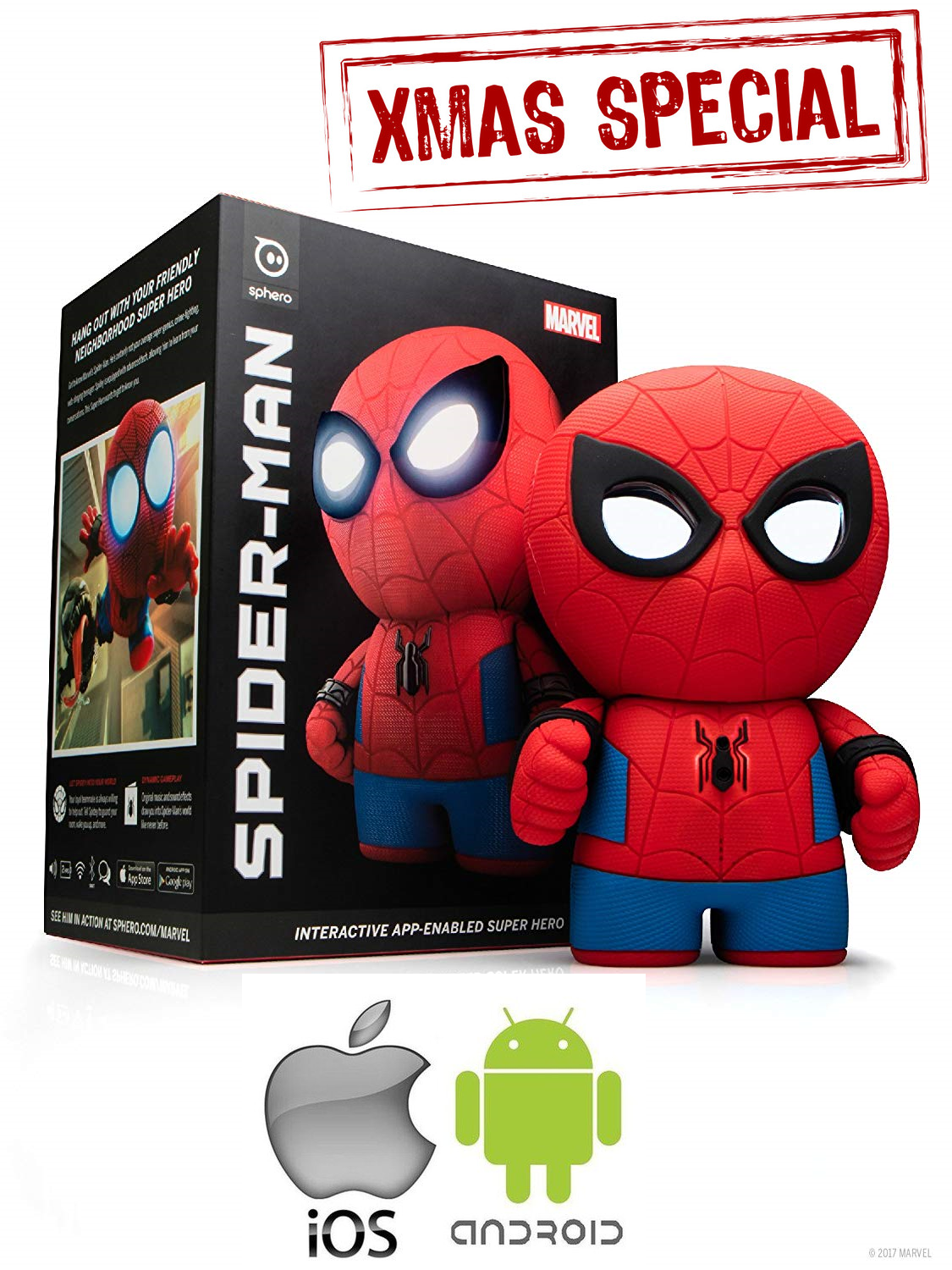 BRAND NEW Spider-Man™ Interactive App-Enabled Super Hero by Sphero IOS & Android