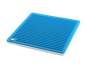 Slipstick Silicone Pot Holder/Trivet 17.5cm Square Blue