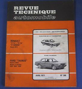 Acheter Pas Cher Revue Technique Rta 366 Ford Taunus Depuis 2/1976 Moteur 4 Cyl 1300 1600 2000