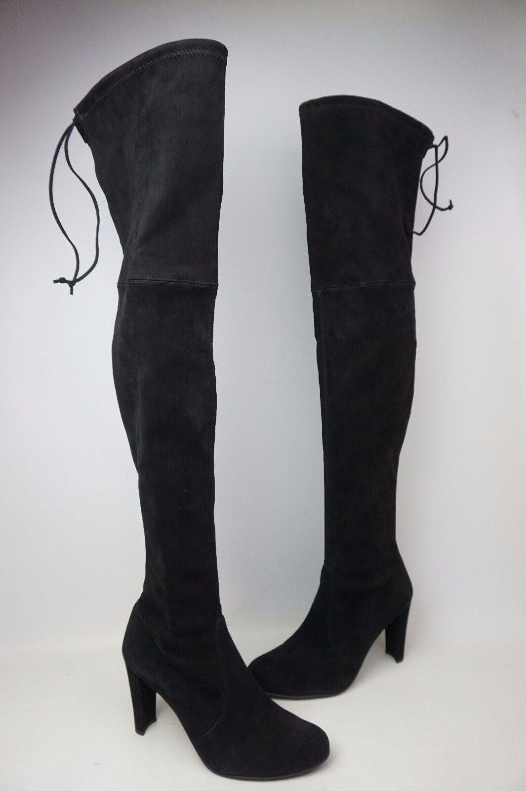 Stuart Weitzman Highland sobre la rodilla botas De De De Gamuza Negra Talla 11.5 M  venta caliente en línea