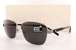 a0df6feb46 Brand New MONT BLANC Sunglasses MB 589S 589 14A Gunmetal Gray for ...