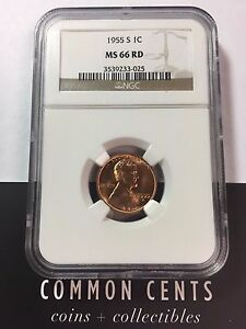 1955-S-Wheat-Penny-MS-66-Red-NGC-SKU-5009