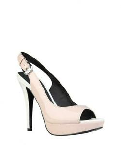75abacd2ea4 Details about Versace Jeans Womens Patent Leather Heels Shoes Pink White Sz  5uk