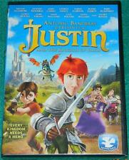 ANTONIO BANDERAS, Justin and the Knights of Valor, DVD, NEW (ANIMATED)