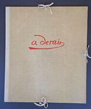 Andre Derain par Dunoyer de Segonzac portfolio # 130/350; 12 lithographs INV183A
