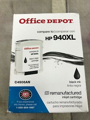 Black,Cyan,Magenta,Yellow Office Depot Remanufactured Ink Cartridge Replacement for HP 940XL//940