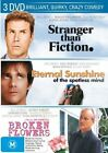Broken Flowers  / Stranger Than Fiction  / Eternal Sunshine Of The Spotless Mind (DVD, 2007, 3-Disc Set)