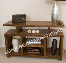 Handmade Wooden TV cabinet Stand  with open shelfs !