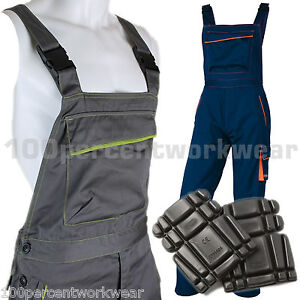 Delta-Plus-Panoply-M6SAL-Work-Bib-and-Brace-Overalls-Dungarees-FREE-Knee-Pads