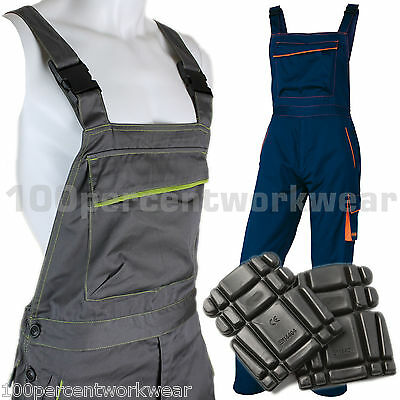 Heavy Duty High Quality Mens Work Bib And Brace Overalls Dungarees Knee Pads New Grade Produkte Nach QualitäT
