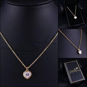 Kette-Halskette-Edles-Herz-Zirkonia-Gelbgold-pl-Swarovski-Elements-Etui