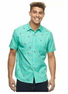 Peanuts-Pirate-Snoopy-Tropical-Summer-Button-Up-Casual-Short-Sleeve-Pocket-Shirt