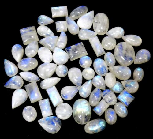 Details about  /100/% NATURAL BLUE FLASHY RAINBOW MOONSTONE MIX SHAPE 500CTS SMOOTH LOOSE GEMS