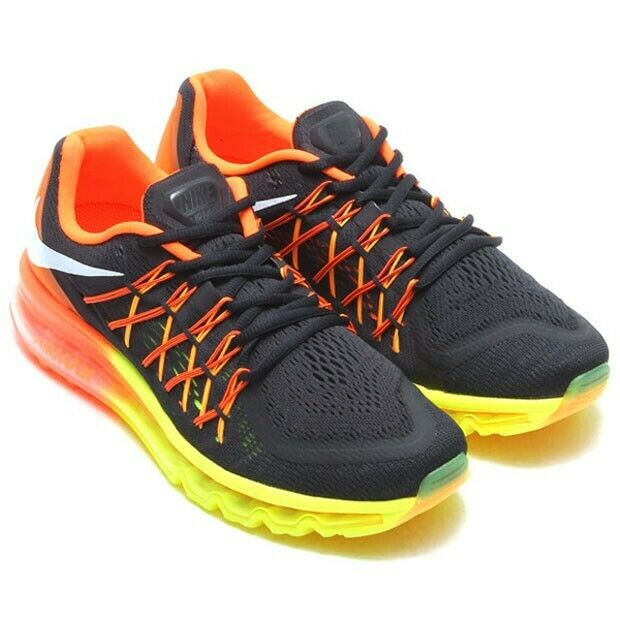 pretty nice ca169 902a8 Nike Men s Air Max 2015 Size 9 Black White HYPER Crimson Volt 698902-004  for sale online   eBay