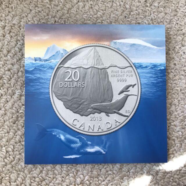 Canada 2013 $20 For $20 .999 Silver Coin Iceberg Certificate - COA Only No Coin