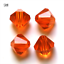 Beads Multiple Wholesale Faceted Crystal Loose Glass Spacer 4mm 6mm Bicone