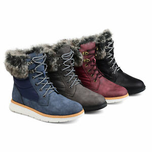 Image Is Loading Brinley Co Womens Lined Lace Up Snow Boot