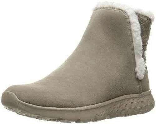 Schuhe Skechers on die Go 400 Cozies 14356 TPE Bootie Frau taupe Stiefelette