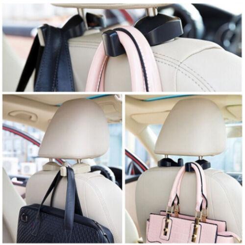 2X Fahrzeug Rücksitz Kopfstütze Kleiderbügel Halter Haken für Tasche  Geldbörse