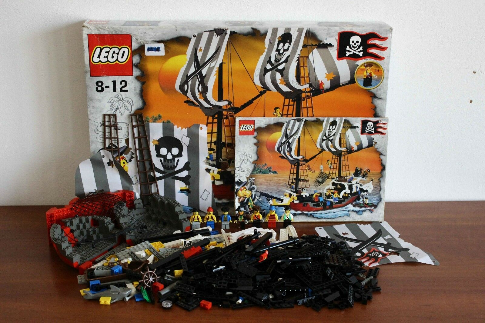 Lego Pirates I Set 6290-1 rouge Beard Runner 100% Cmplt. + boîte