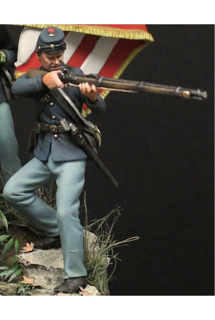 Union soldier at Battle of Gettysburg 54mm 1 32 Tin Painted Toy Soldier   Art