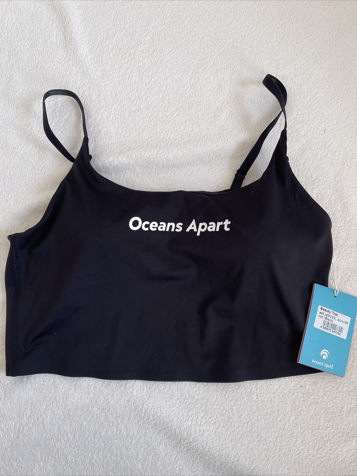 Oceans Beauty Bra Sport BH Top 38 Neu Schwarz