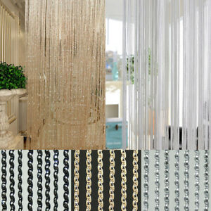6 color string bead tassel curtain room divider crystal beads door