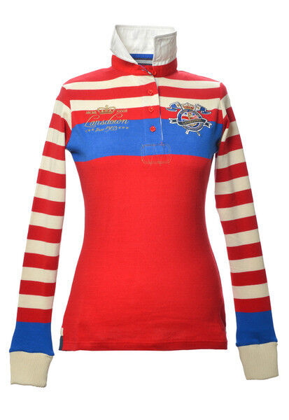 Lansdown Ladies Wilmington Rugby Shirt Red size 08-18