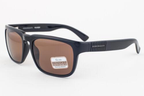 Serengeti Cortino Shiny Black Polarized Drivers Sunglasses 7458