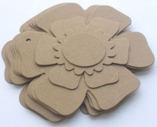 Flower Pages Raw Bare Unfinished Die Cuts FLORAL CHiPBOARD ALBUM KIT