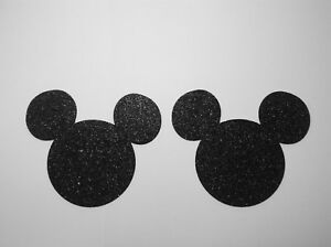 Mickey-Mouse-Heads-Set-of-20-Black-Glitter-Foam-Die-Cuts-2-H-Party-Decorations