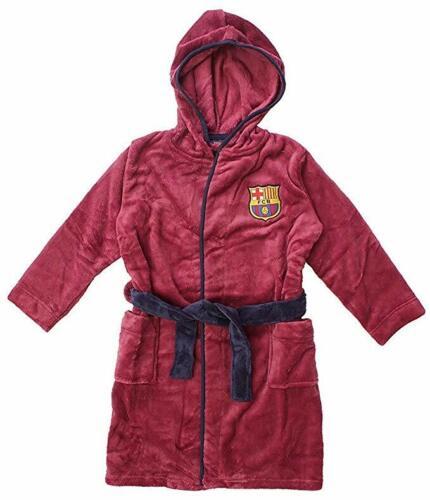 Kids Football Fleece Dressing Gown Bath Robe Nightwear Boys Gift 3-12 Years