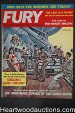 Fury Oct 1961 Suzanne Blaine, Ted Sturgeon, Bobby Kennedy, Santa Maria - Ultra H