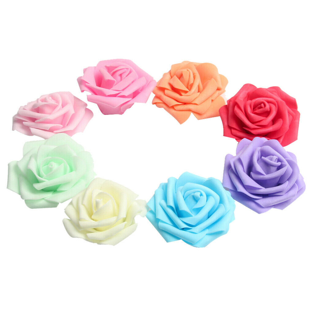 144pcs Gelb Papier Rosen Blumen für Hochzeitstorte Umschläge Geschenkkarte