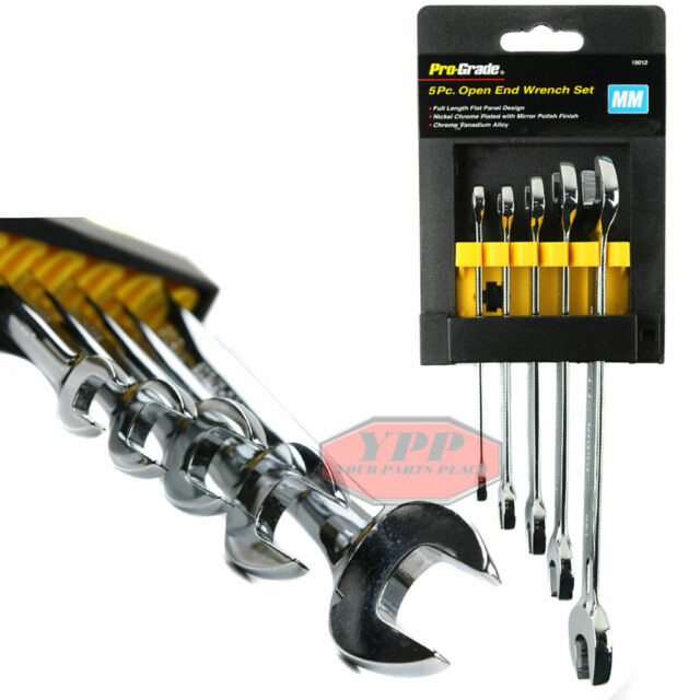 Pro-Grade 19012 Metric Open End Wrench Set 5-Piece